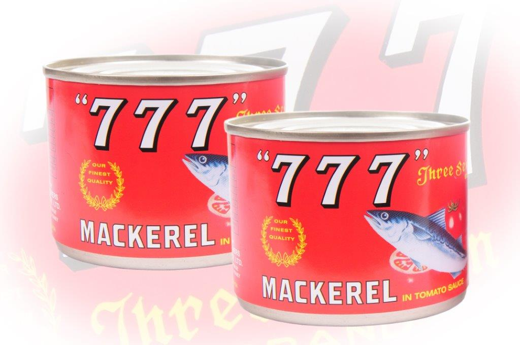 777 - Mackerel In Tomato Sauce - 200g - 24 cans - 123