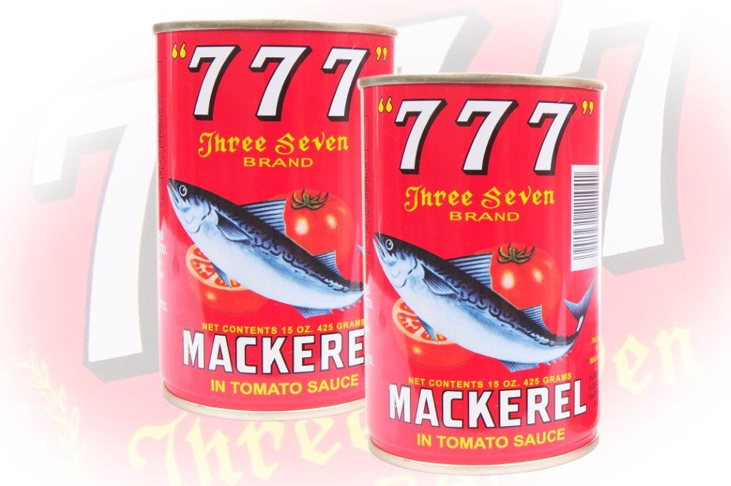 777 - Mackerel In Tomato Sauce - 425g - 48 cans - 119