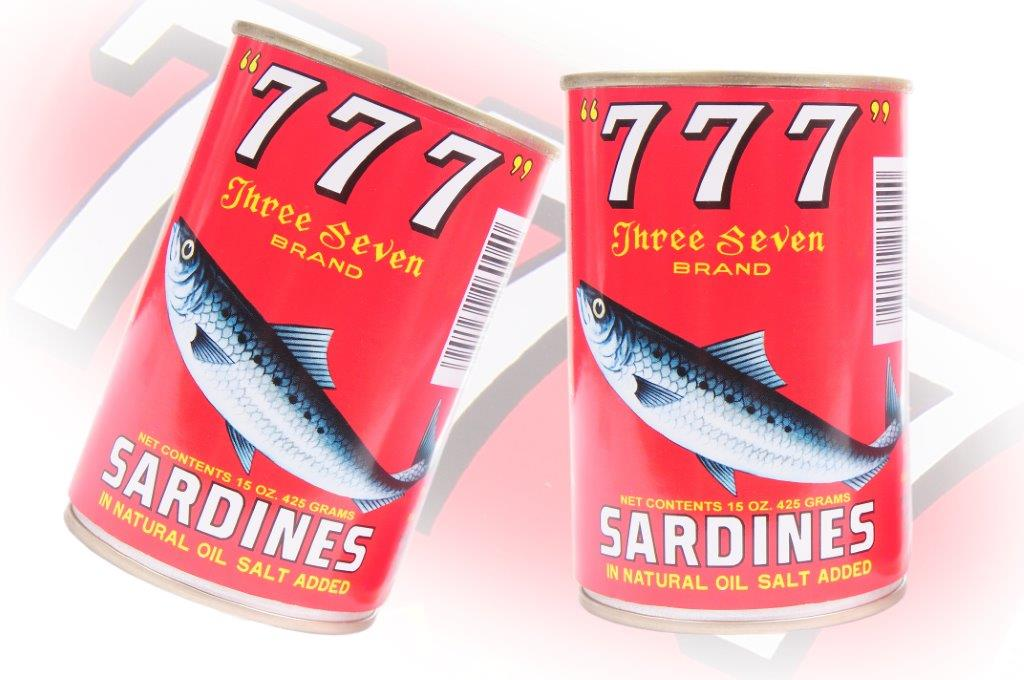 777 - Sardines In Natural Oil - 425g - 24 cans - 105