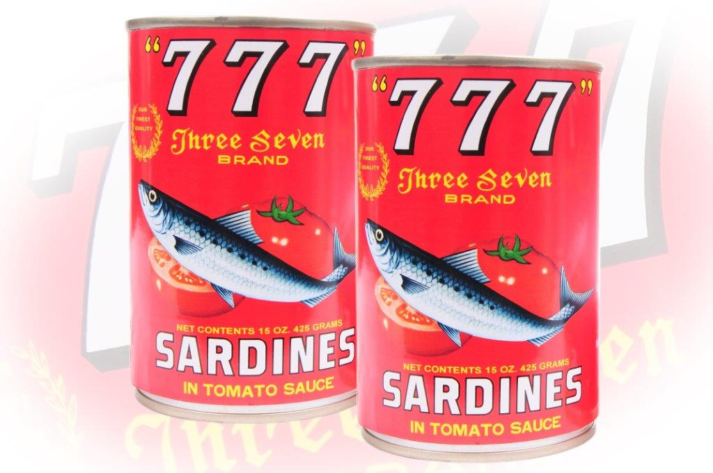 777 - Sardines In Tomato Sauce - 425g - 24 cans -117