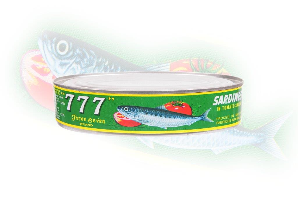 777 - Sardines In Tomato Sauce(Oval Can) - 425g - 24 cans - 83