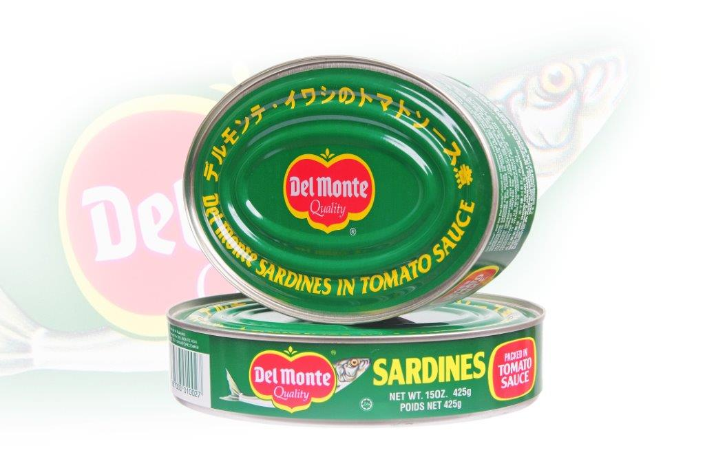 Del Monte - Sardine in Tomato Sauce(Oval Can) - 425g - 24 cans - 86
